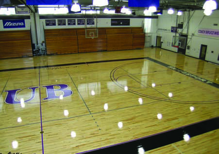 Flooring Upgrade Notre Dame High School Fairfield CTby Baker Sports Flooring Southington CT