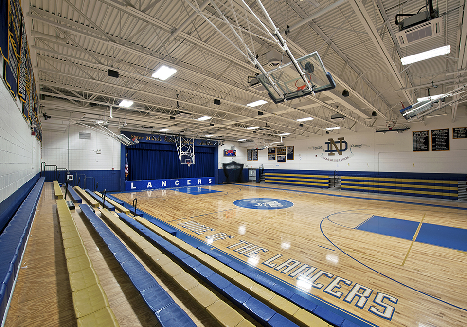 Notre Dame gymnasium floor