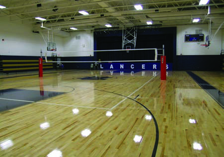 Flooring Upgrade Notre Dame High School Fairfield CT by Baker Sports Flooring Southington CT
